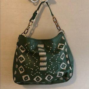 Tory Burch Green embroidered Hobo Bag